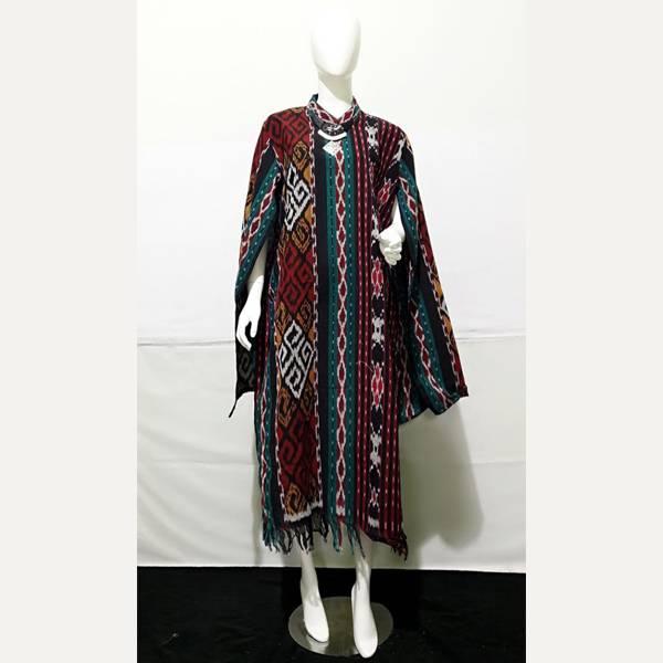 Dress Wanita Tenun Nagita1