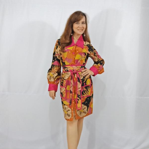 Ratu Ayu Batik, Katun Cardigan Flower1