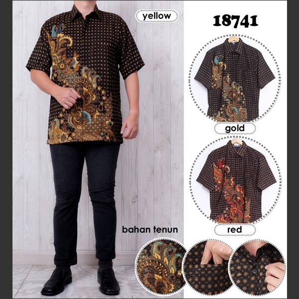 Batik Pria Atbm 18741 Lengan Pendek