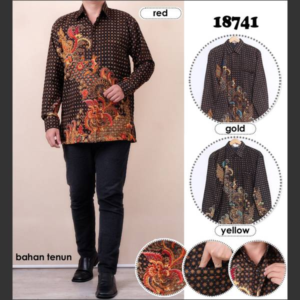 Batik Pria Atbm 18741 Lengan Panjang