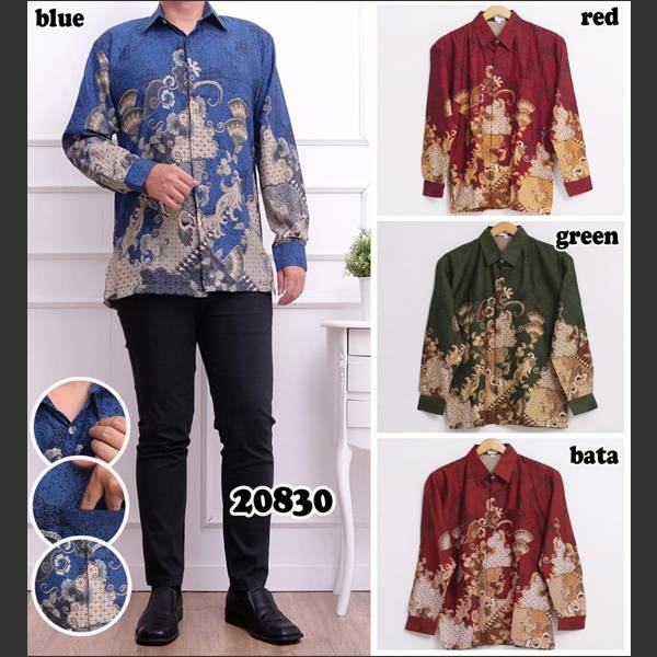Batik Pria Bsy 20830 Lengan Panjang
