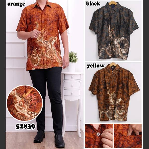 Batik Pria Semi Sutera 52839 Lengan Pendek