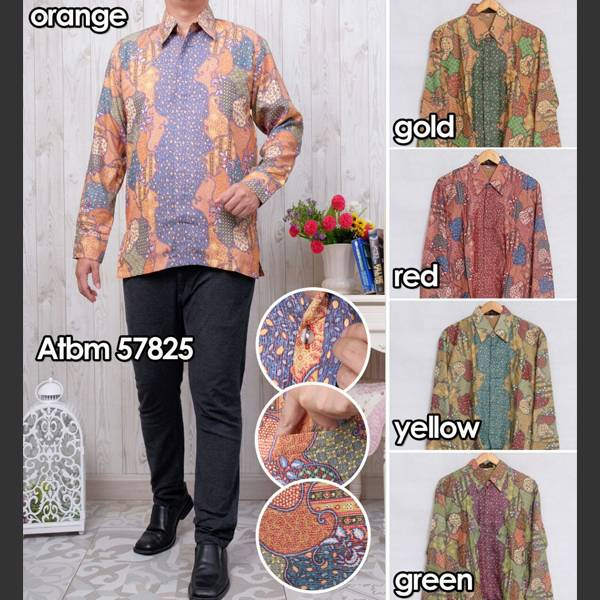 Batik Pria Atbm 57825 Lengan Panjang