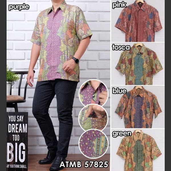 Batik Pria Atbm 57825 Lengan Pendek