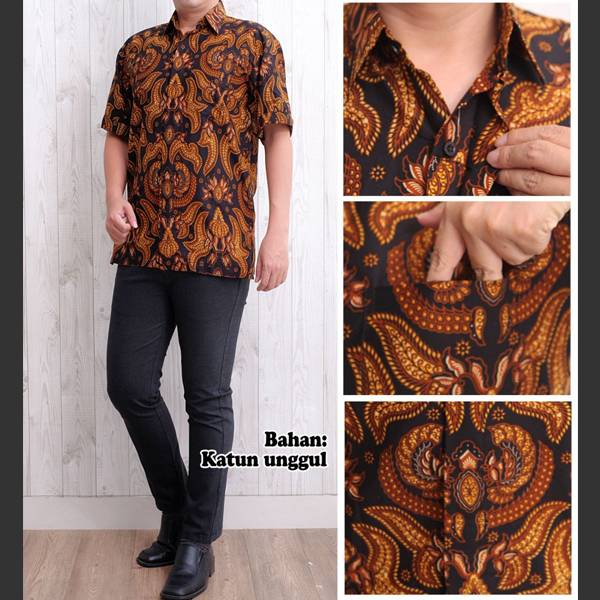 Batik Pria Katun Unggul 2 Lengan Pendek
