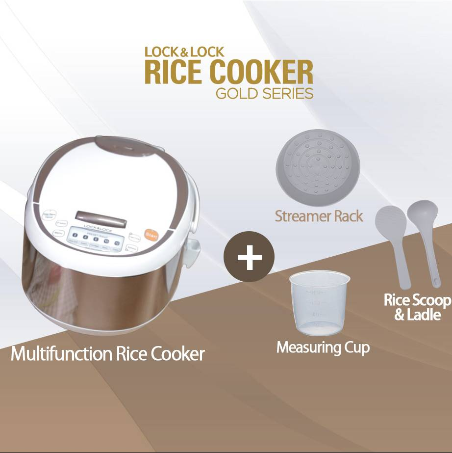 Lock N Lock Rice Cooker Gold Series0