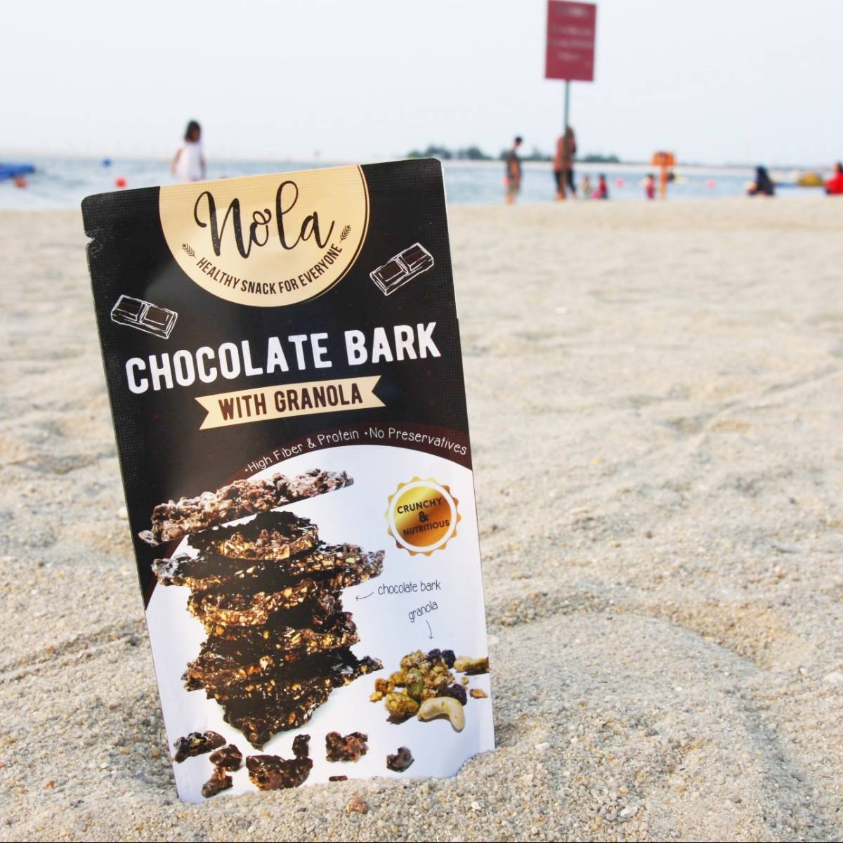 Nola Chocolate Bark With Granola 100 Gr