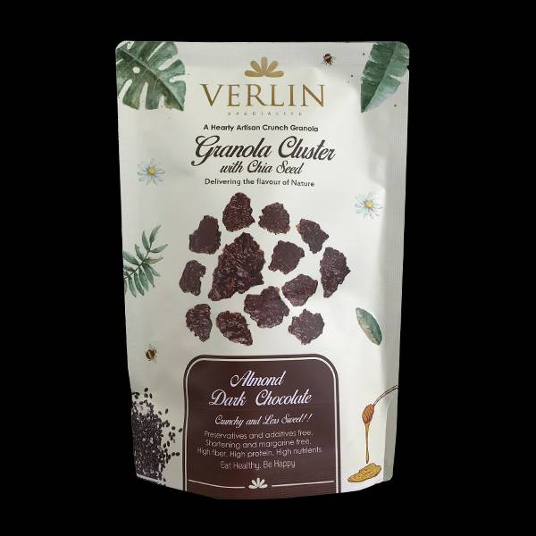 Granola Cluster Almond Dark Chocolate 200gr
