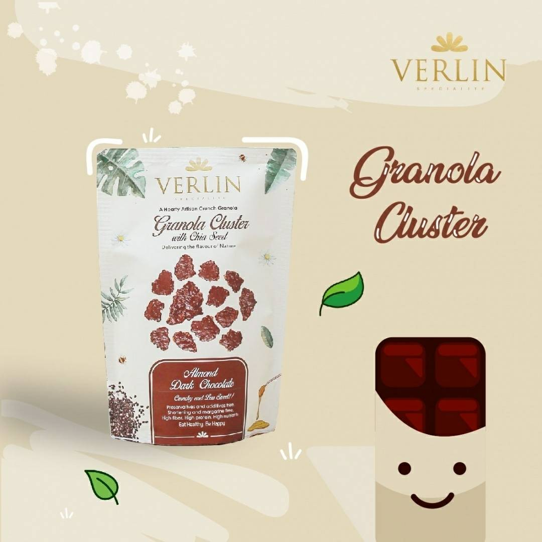Granola Cluster Almond Dark Chocolate 200gr0