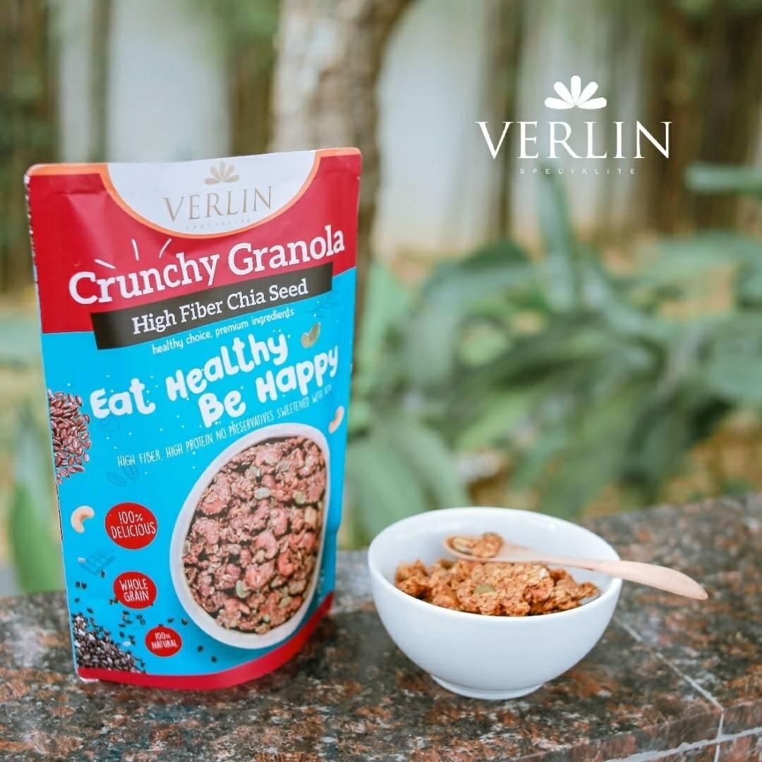 Crunchy Granola High Fiber Chia Seed2