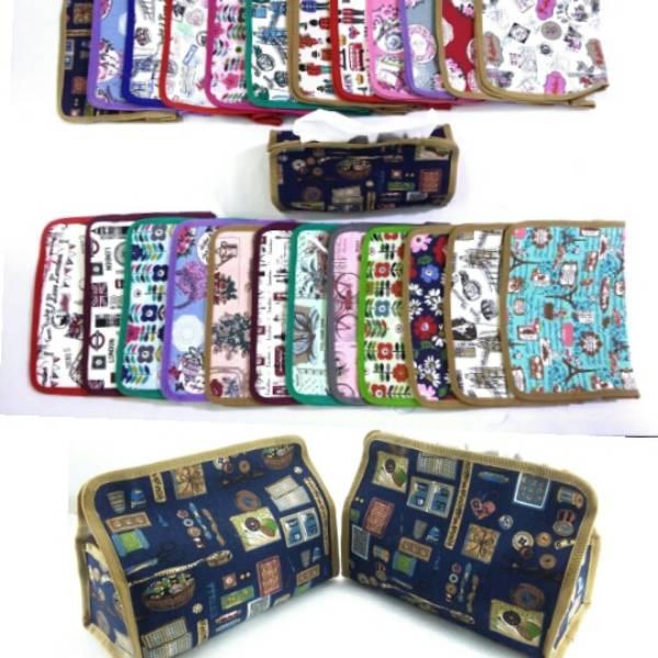 Tempat Tissue Motif - Bahan Kanvas , Pre Order Qty Min 100 Pcs