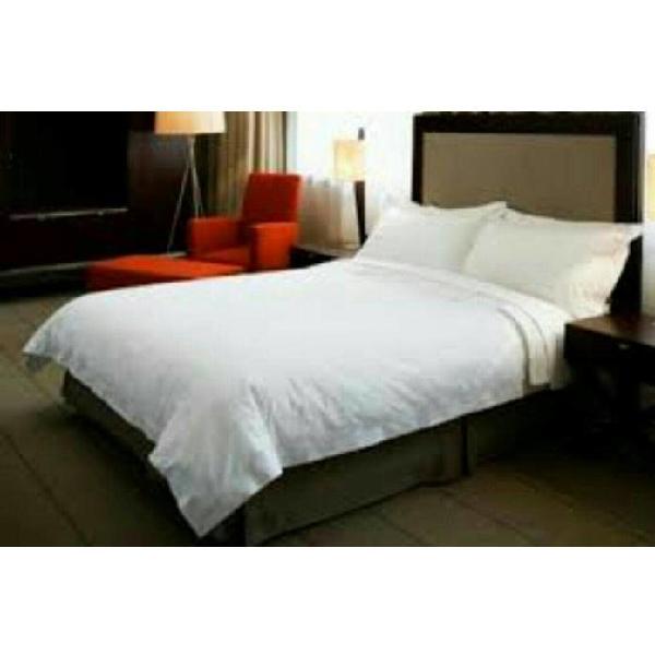 Sprei Hotel Putih 160 X 200 X 30 Katun Jepang