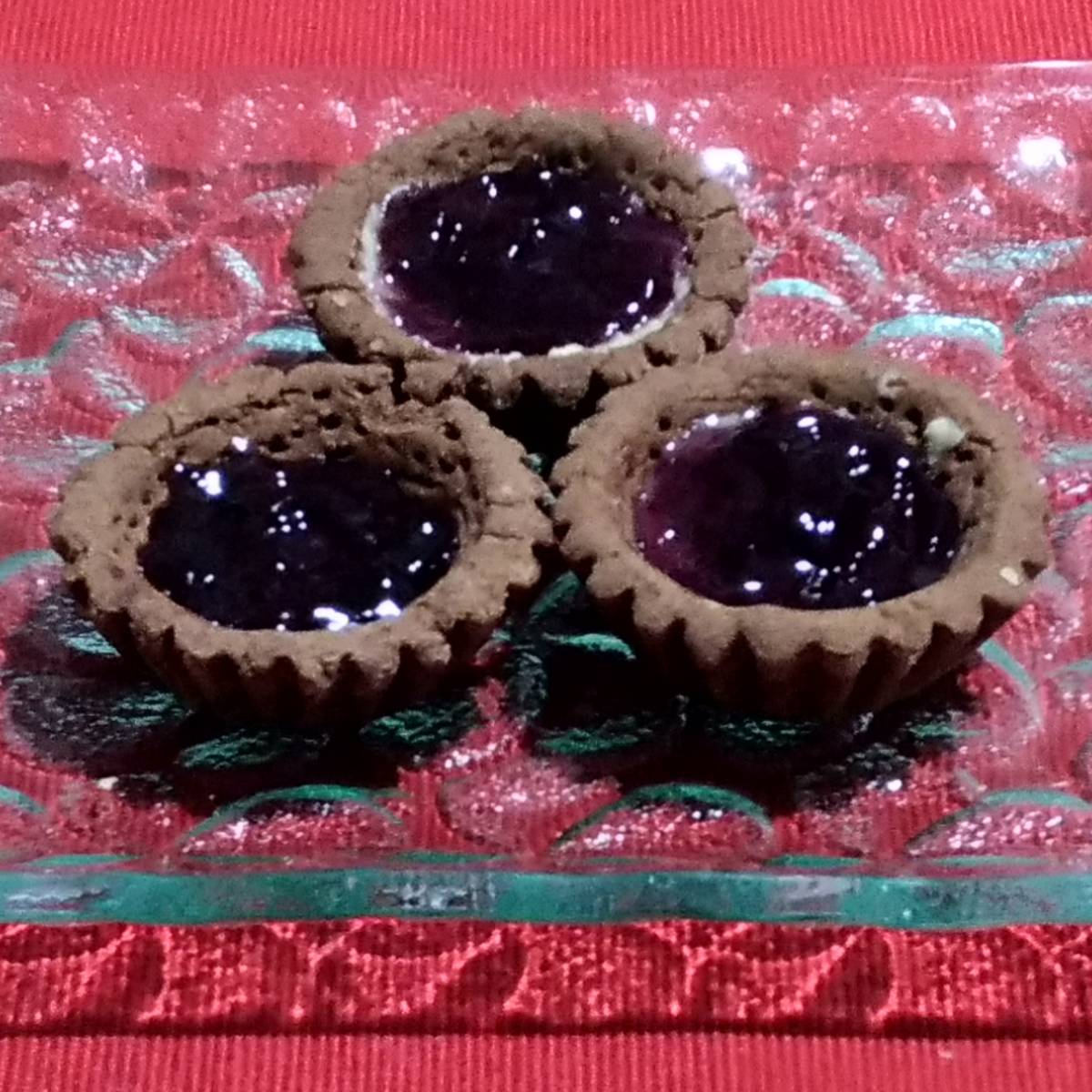 Mini Pie Blueberry Chocolate Crust(paket 3 Piece)