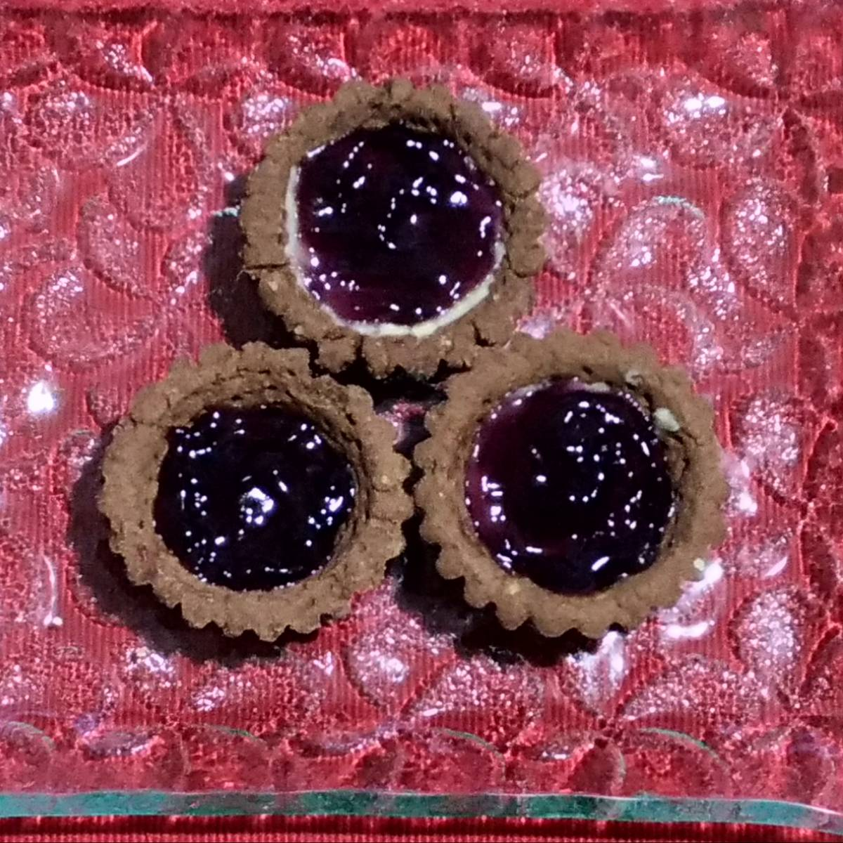 Mini Pie Blueberry Chocolate Crust(paket 3 Piece)1
