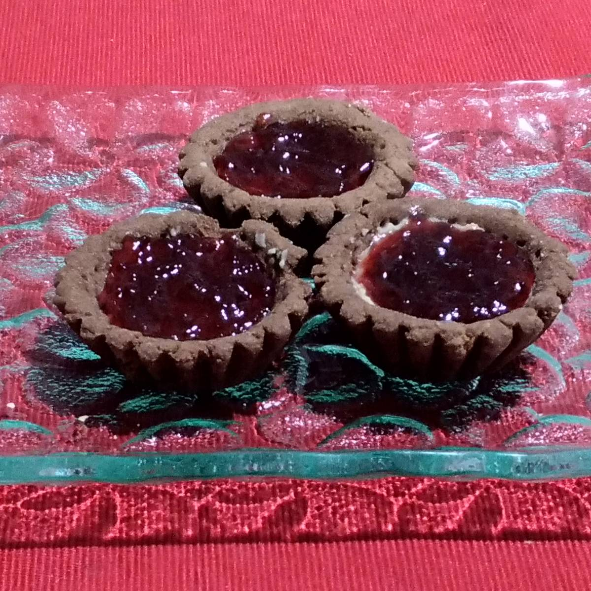 Mini Pie Strawberry Chocolate Crust(paket 3 Pieces)2