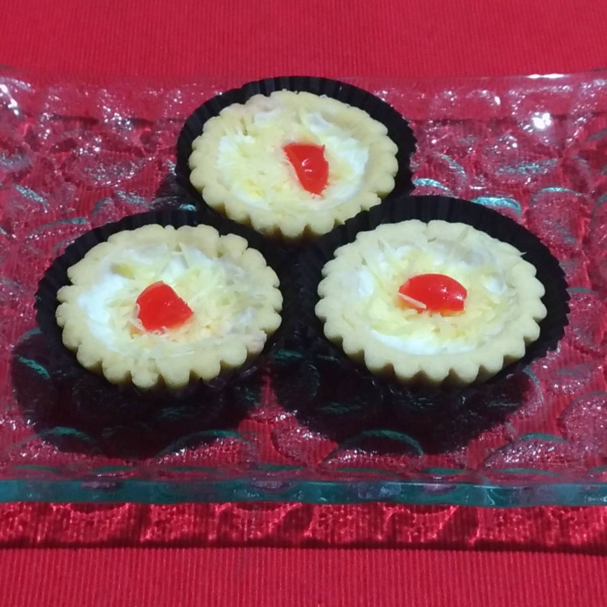 Mini Pie Cheese Cherry Original Crust(paket 3 Pieces)