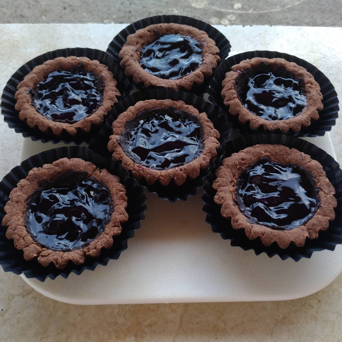 Mini Pie Blueberry Chocolate Crust(paket 6 Pieces)