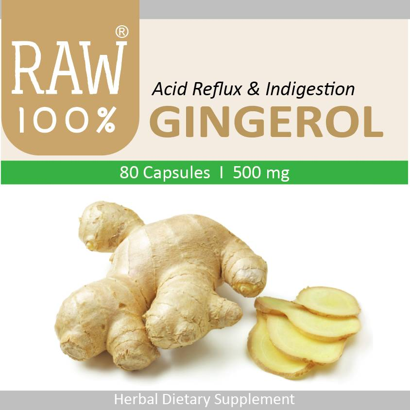 Raw100 - Gingerol / Acid Reflux & Digestion0
