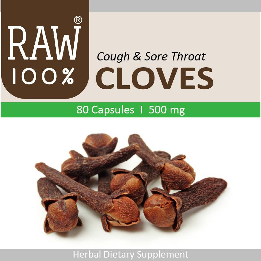 Raw100 - Cloves / Cough, Sore Throat & Asthma