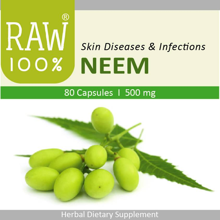 Raw100 - Neem / Skin Diseases & Infections