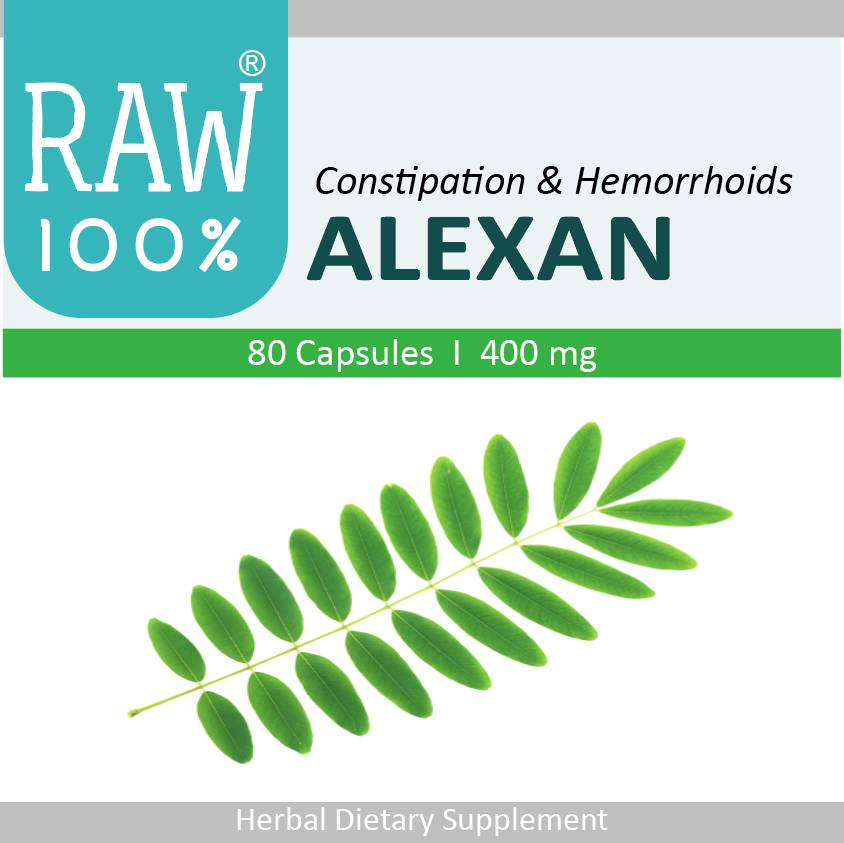 Raw100 - Alexan / Constipation & Hemorrhoids