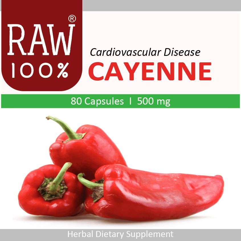 Raw100 - Cayenne / Heart Attack & Neuropathy
