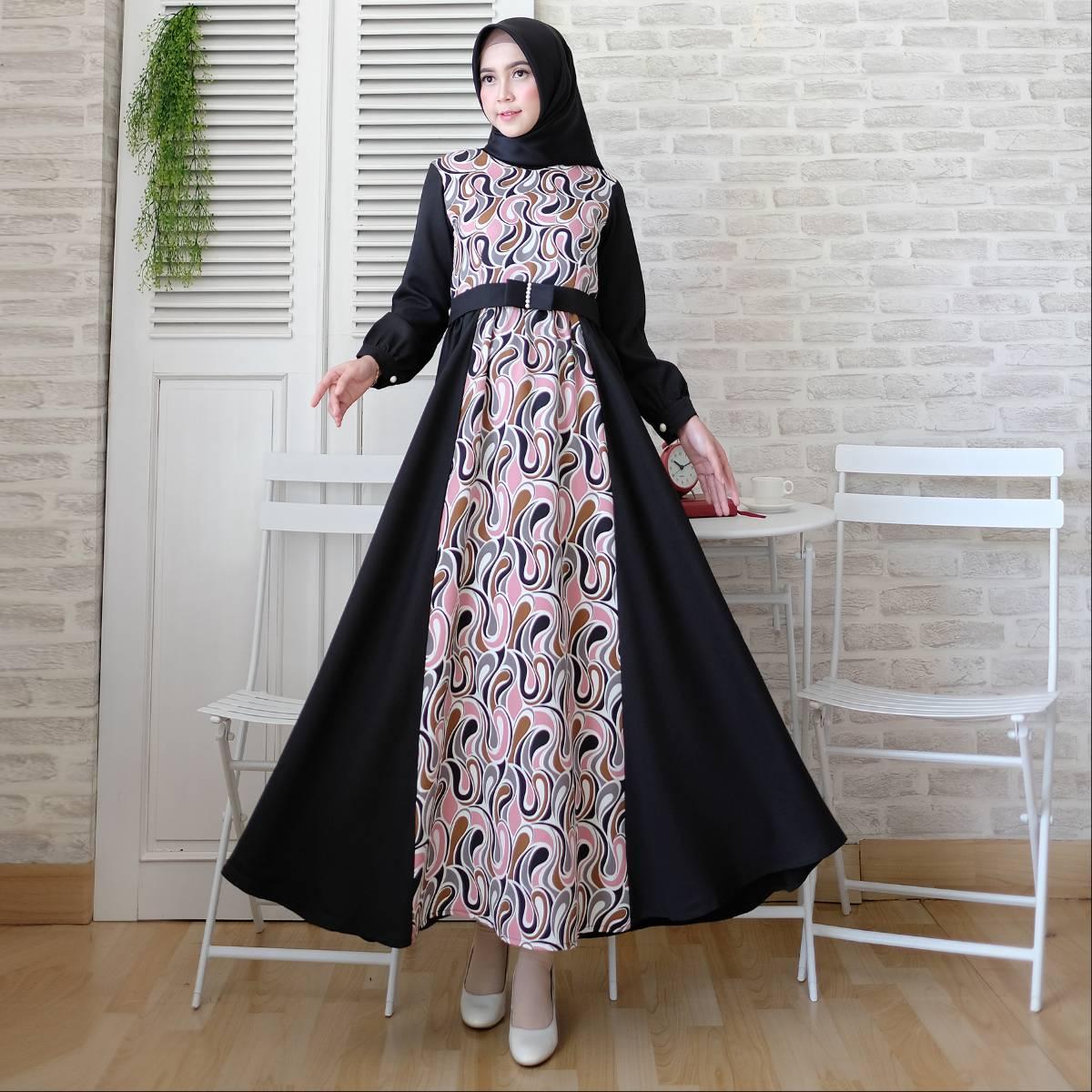 Gamis Muslim Motif Toyusin Tys 6391