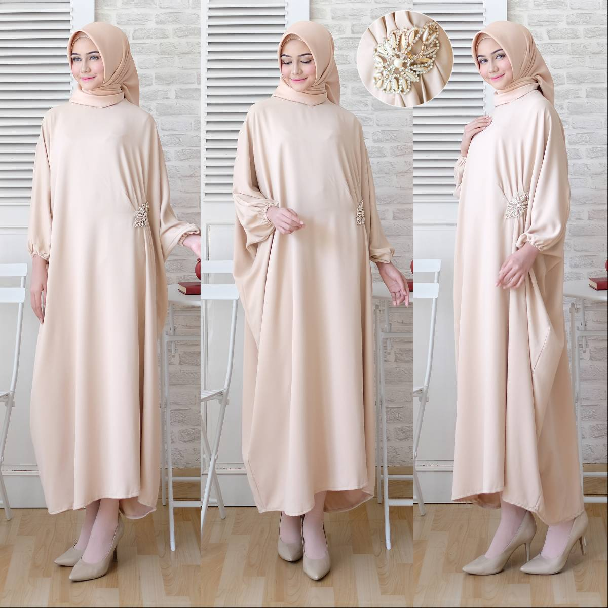 Gamis Kaftan Polos Toyusin Tys 625