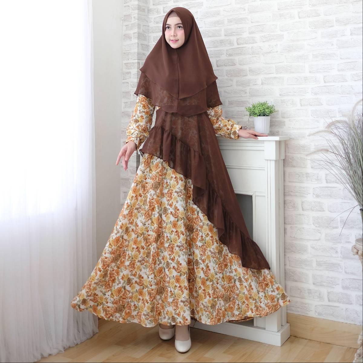 Gamis Muslim Motif Toyusin Tys 6201