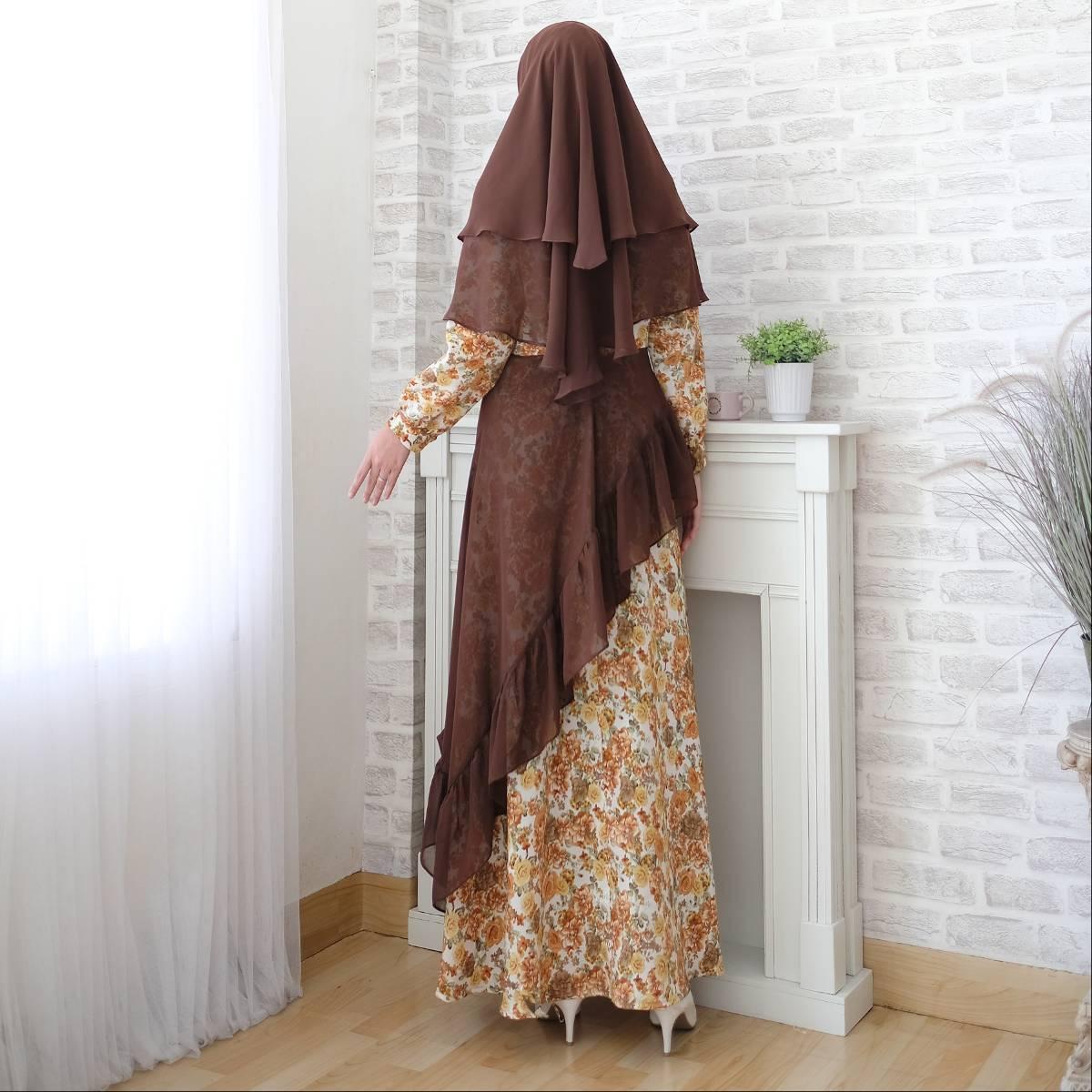 Gamis Muslim Motif Toyusin Tys 6202