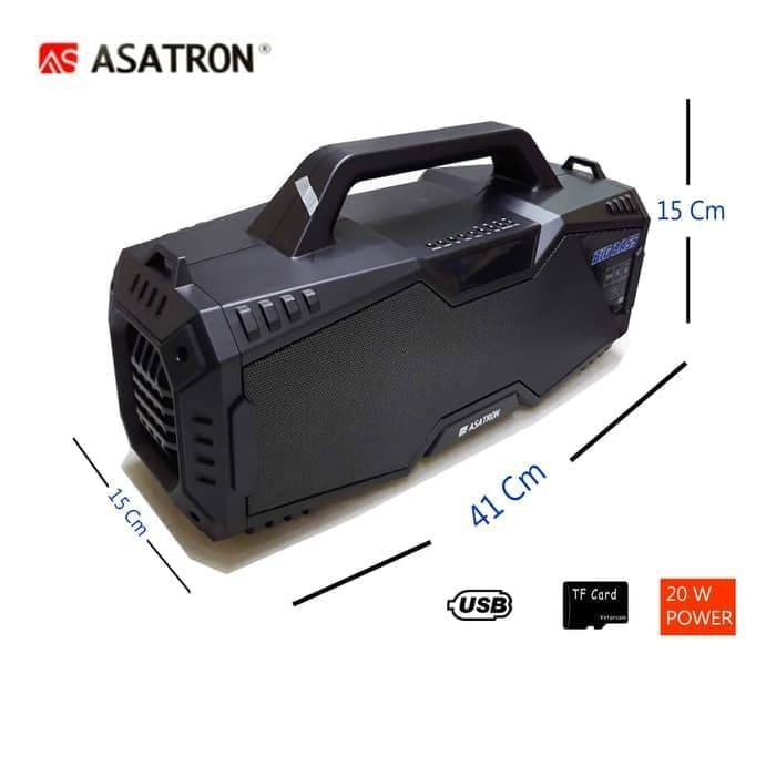 Speaker Bluetooth Asatron R-1718 Usb Stereo.3