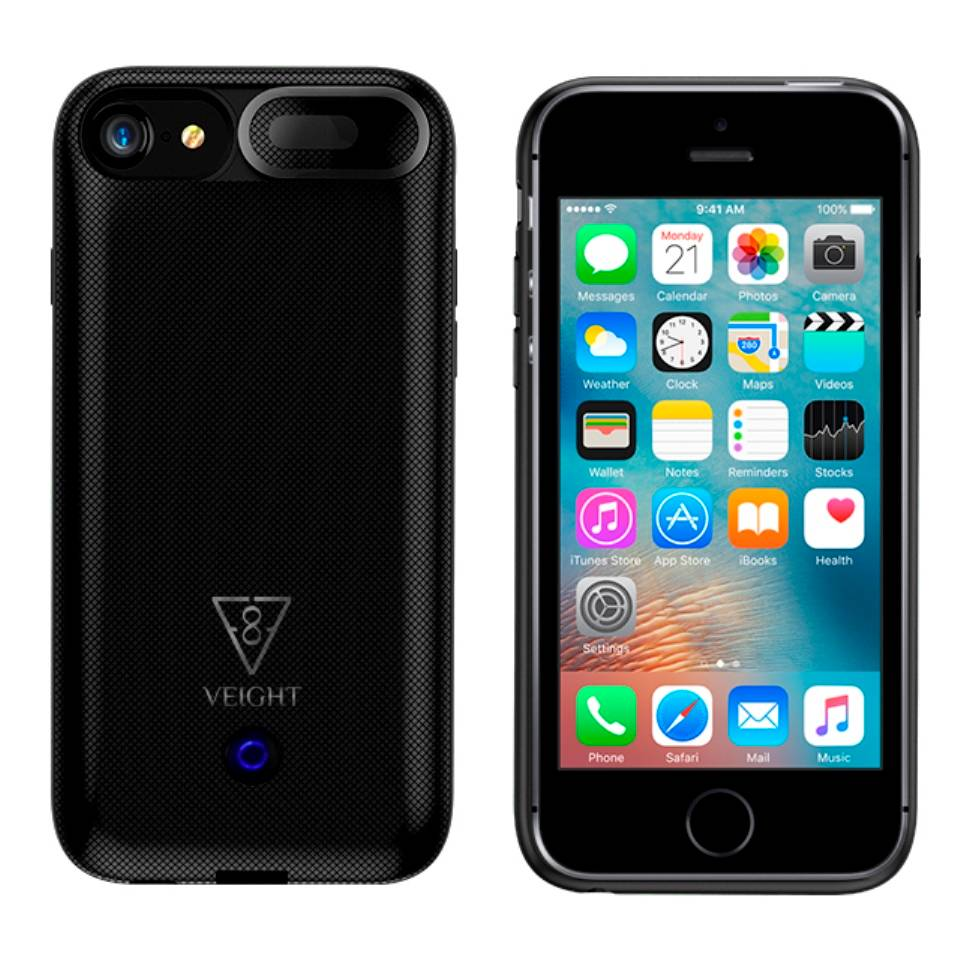 Power Bank Wireless Power Case Iphone 6+/6s+/7+/8+ 7500mah Veight V104