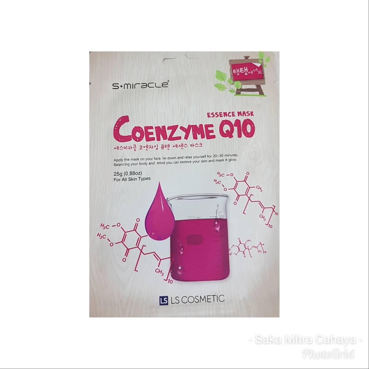 Masker Wajah Korea Coenzyme Q10 - S+miracle Coenzyme Q10 Essence Mask