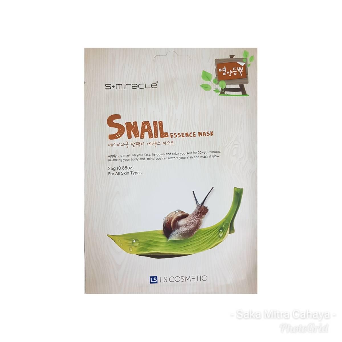Masker Wajah Korea Snail - S+miracle Snail Essence Mask