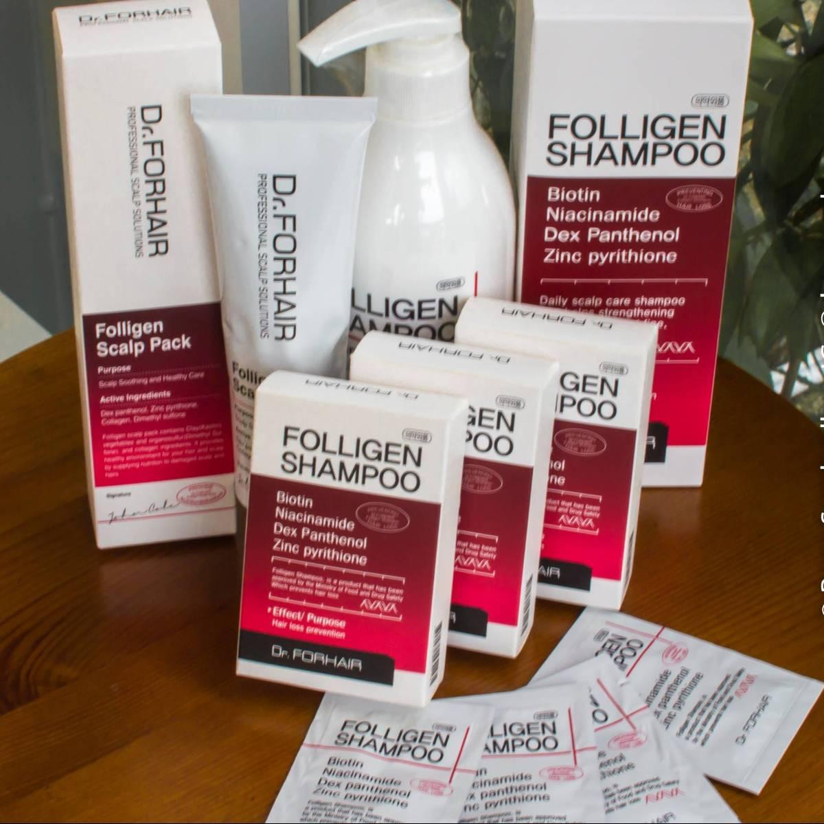 Shampo Korea - Dr.forhair Folligen Shampoo & Folligen Scalp Pack