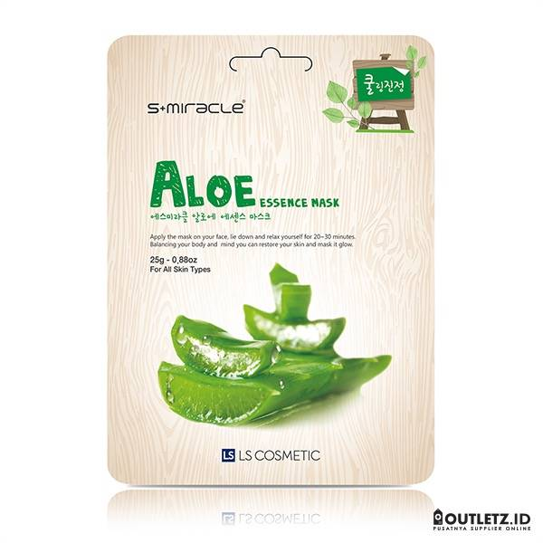 Masker Wajah Korea Aloe -s+miracle Aloe Essence Mask0