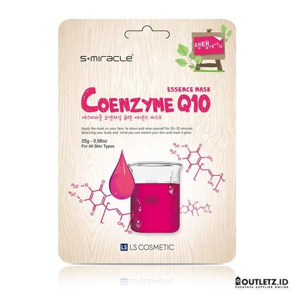 Masker Wajah Korea Coenzyme Q10 - S+miracle Coenzyme Q10 Essence Mask0