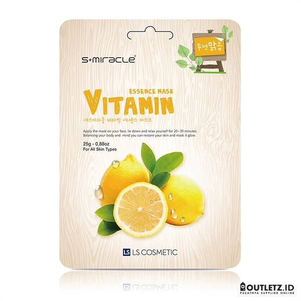 Masker Wajah Korea Vitamin - S+miracle Vitamin Essence Mask1