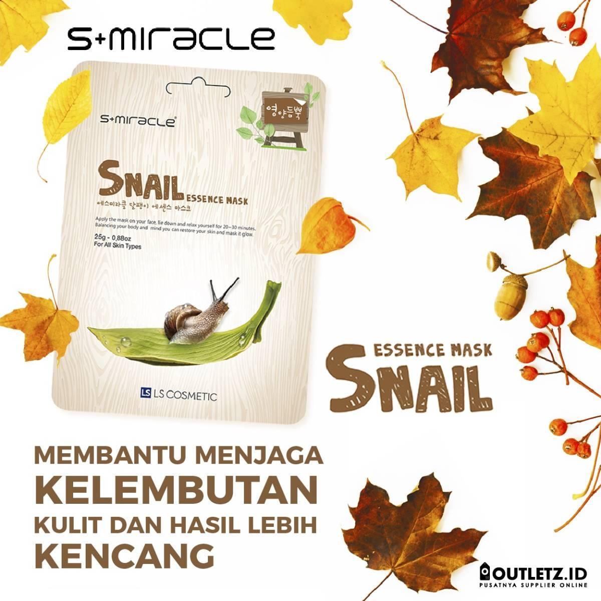 Masker Wajah Korea Snail - S+miracle Snail Essence Mask0