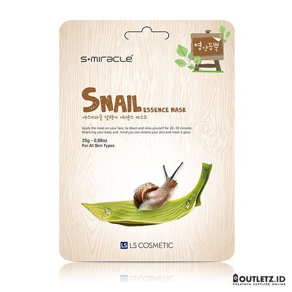 Masker Wajah Korea Snail - S+miracle Snail Essence Mask1