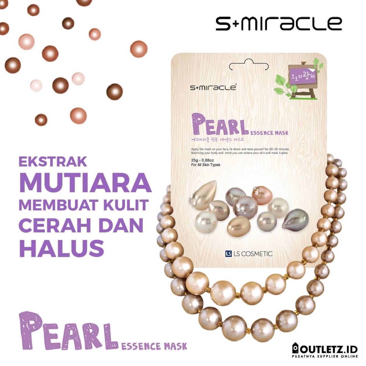 Masker Wajah Korea Pearl - S+miracle Pearl Essence Mask