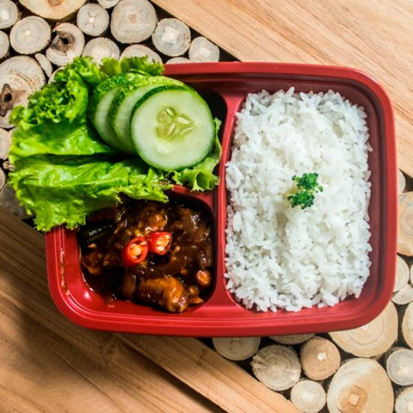 "Paket Lunch Box "" Ayam Kungpao """