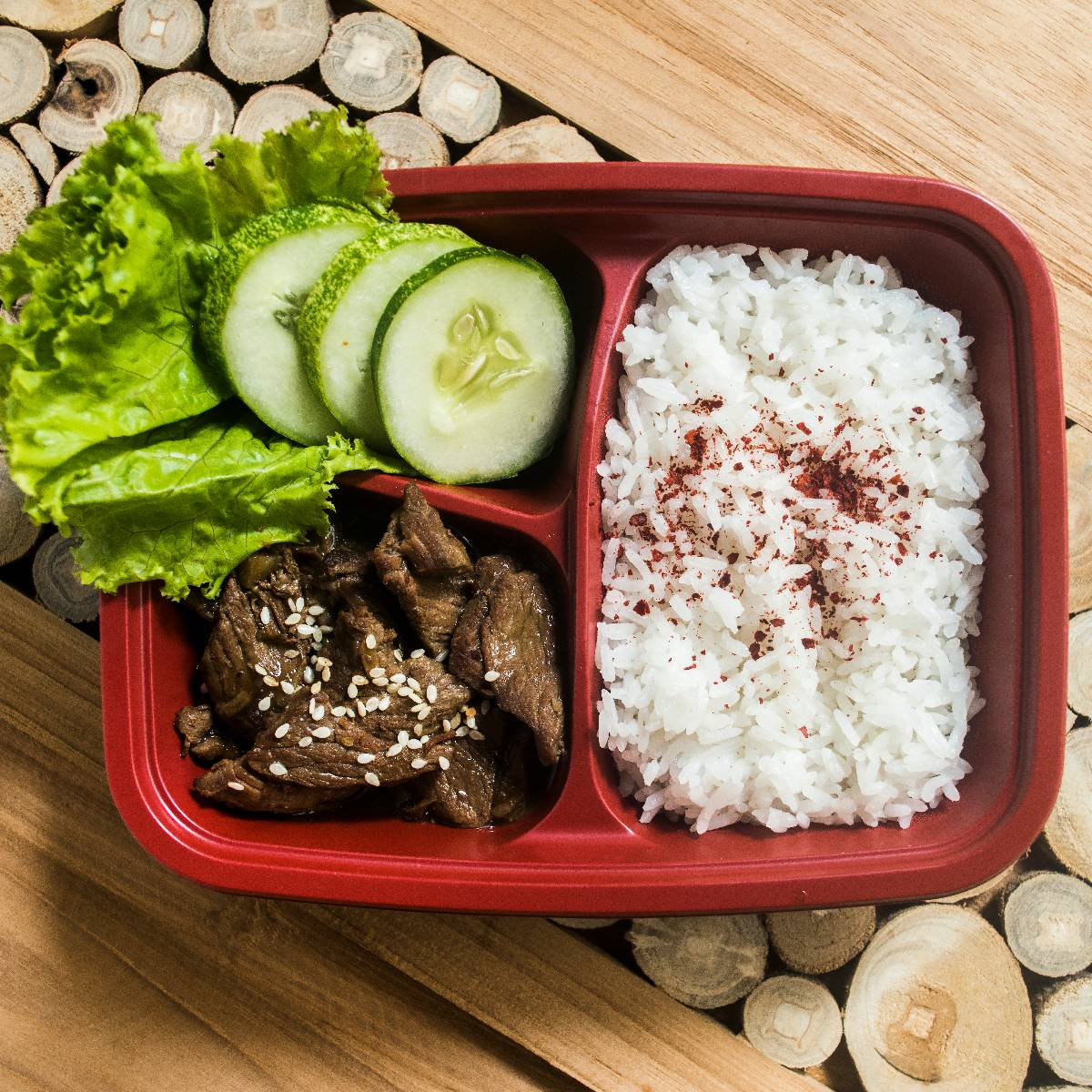 "Paket Lunch Box "" Beef Teriyaki """