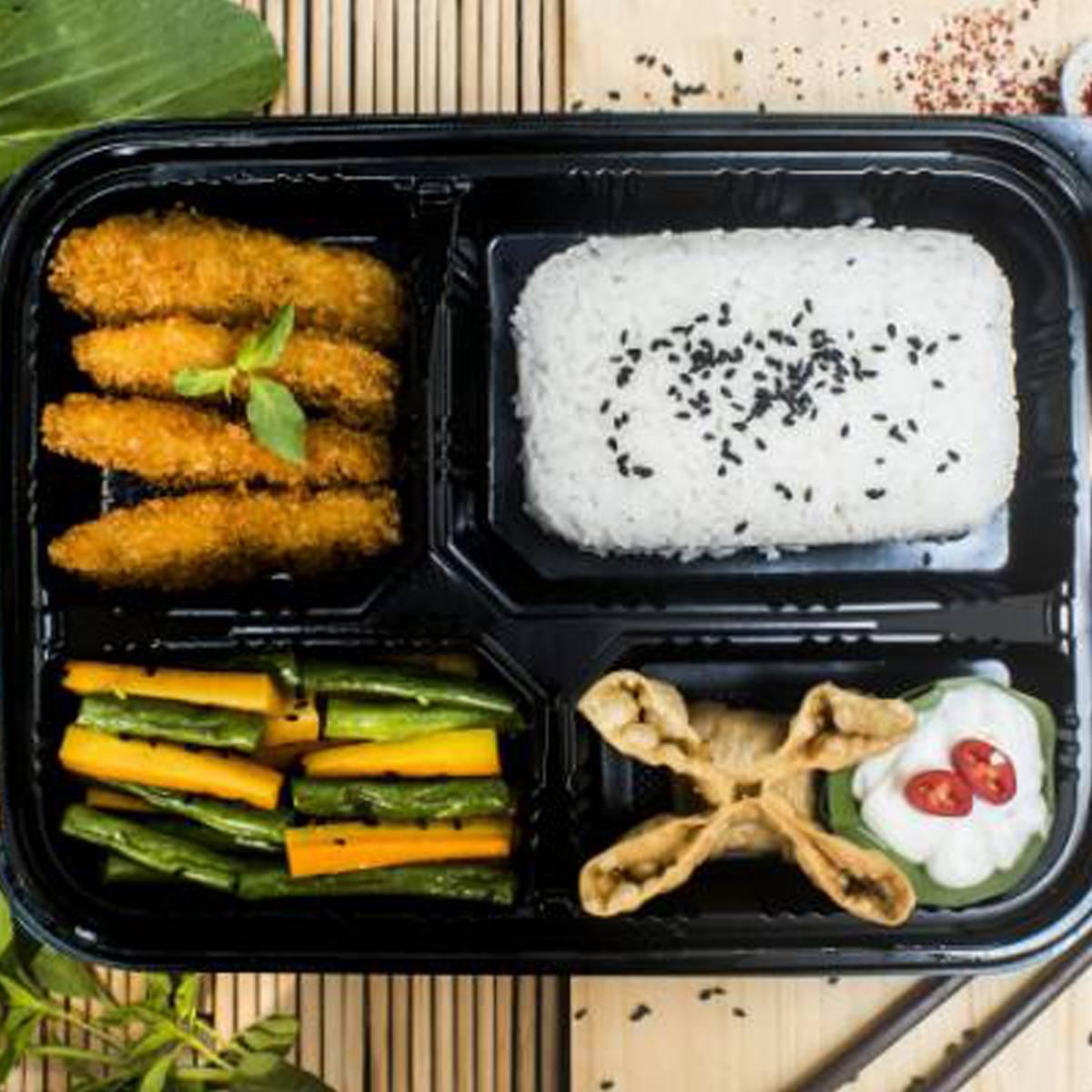 "Paket Lunch Box "" Dori Katsu Teriyaki """