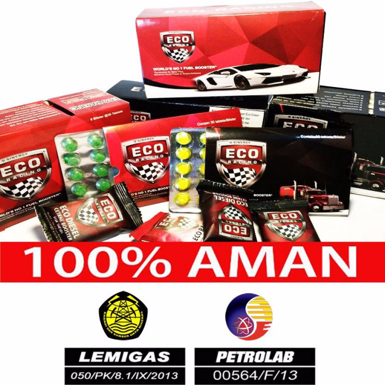Eco Racing Mobil Bensin 1pack Isi @10 Sachet Original