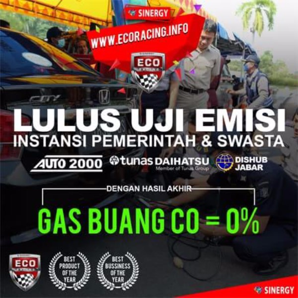 Eco Racing Mobil Bensin 1pack Isi @10 Sachet Original3