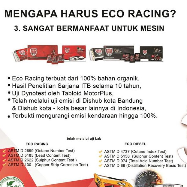 Eco Racing Motorcycle 1 Pack Isi@50 Butir Original2
