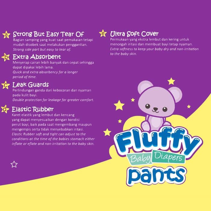 Fluffy Baby Pants M18 Isi @18pcs + Bonus 2pcs (promo)1