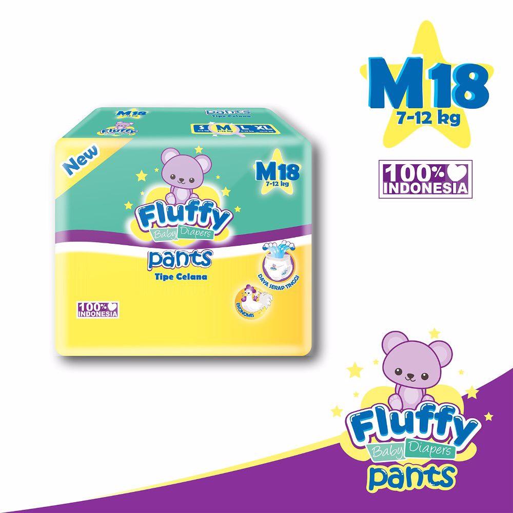 Fluffy Baby Pants M18 Isi @18pcs + Bonus 2pcs (promo)