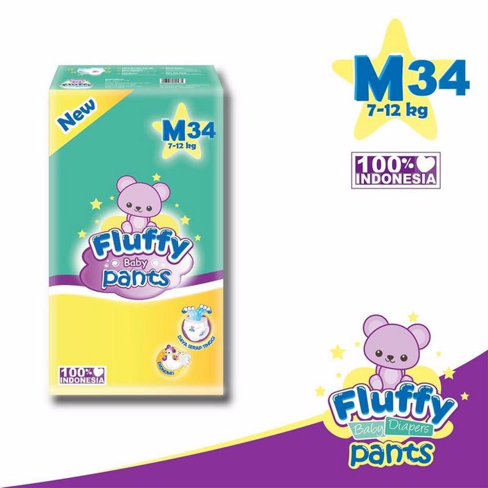 Fluffy Baby Pants Size M34 / L30 / Xl26 (promo)0